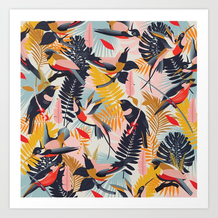 Paradise Birds II. Art Print