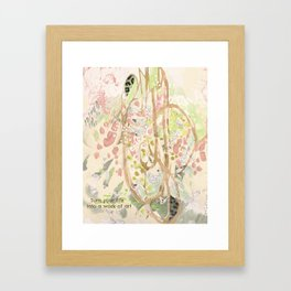 Life Into Art #2: by Deb Haugen (#HeyCreateDaily) Framed Art Print