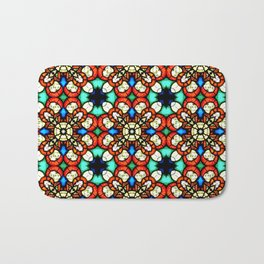 Stained glass pattern texture face Bath Mat