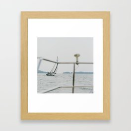 Sailing with Company Framed Art Print