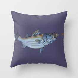 Striper Season Throw Pillow