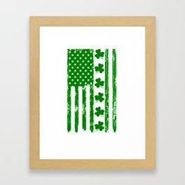 St Patricks Day Irish American Flag Framed Art Print