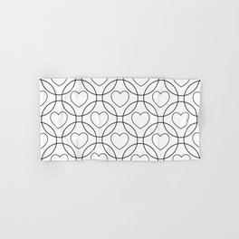 Decor with circles and hearts Hand & Bath Towel