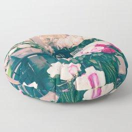 Paris flower market Floor Pillow