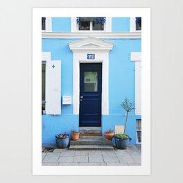 105. Blue House, Paris Art Print
