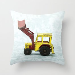 Vintage Corgi Junior - Massey Ferguson Tractor Throw Pillow