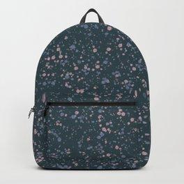 Denim Blue + Pink Splatter Print Backpack