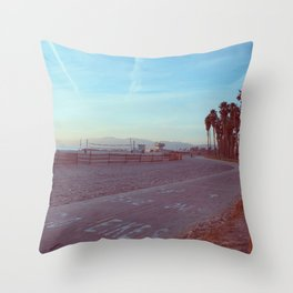 Bikes Only in Venice, California Throw Pillow