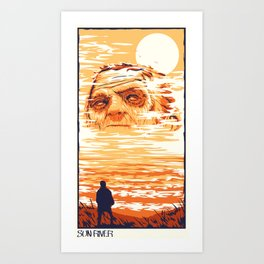 Sun River Art Print