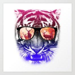 cool tiger  Art Print
