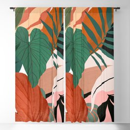 Abstract Art Tropical Leaves 44 Blackout Curtain