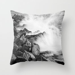 Morris Island Light Splash Throw Pillow