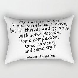 Maya Angelou Quote Print Rectangular Pillow