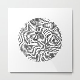 Fingerprint Metal Print