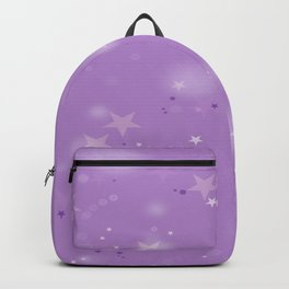 Purple Stars in the Night Sky Backpack
