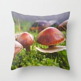 Macro Fungi - Nature Photography Throw Pillow