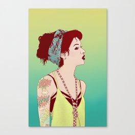 Pop Art Lady Canvas Print