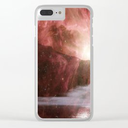 Fire in the Sky V Clear iPhone Case