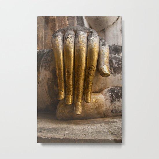 Golden Hand of a Buddha in Wat Sri Chum Thailand Metal Print