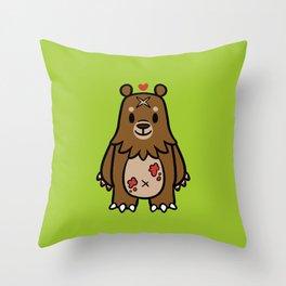 Smol Bear Throw Pillow