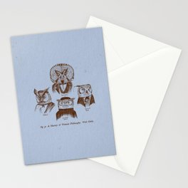 A History of Western Philosophy. With Owls. Stationery Cards