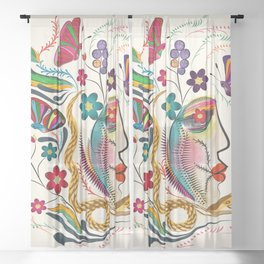 Dark Fantasy Sheer Curtain