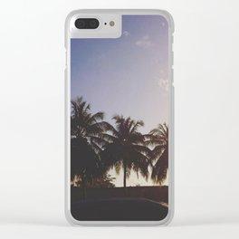 Sunset on Grand Anse Beach, Grenada, W.I Clear iPhone Case