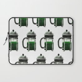 French Press - Green Laptop Sleeve