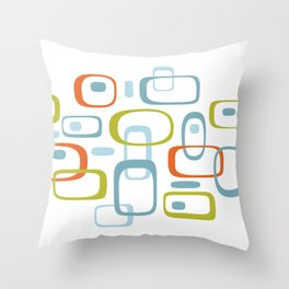 1950s Retro Organic Pattern Throw Pillow