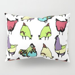 Hens on white Pillow Sham