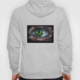 Big green eye. Abstract. Black background Hoody