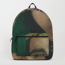 Lady in Green Backpack