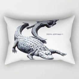 Lazy Gators II Rectangular Pillow