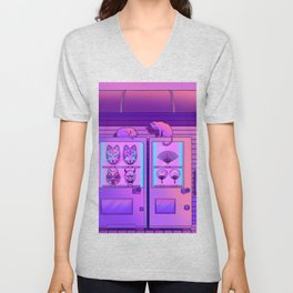 Neon Vending Machines Unisex V-Neck