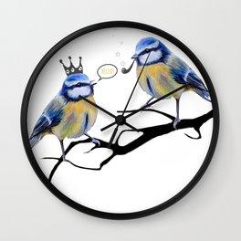 Bluetits Wall Clock