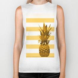 Pineapple with yellow stripes - summer feeling Biker Tank