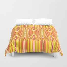 The Courtship of Ketchup & Mustard Duvet Cover