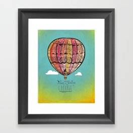 Life Expands quote Framed Art Print