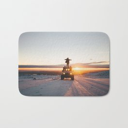 A Landy in the Landscape of Iceland Bath Mat