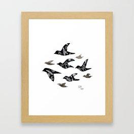Patterned Birds Framed Art Print