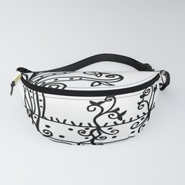 Strong Roots - Black and White Fanny Pack