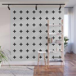 Black Plus on White /// Black n' White Series Wall Mural