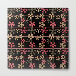 Abstract pattern in black red and brown tones . Metal Print