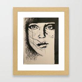 Freckle Face Framed Art Print