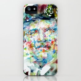 BERNARD MONTGOMERY - watercolor portrait iPhone Case