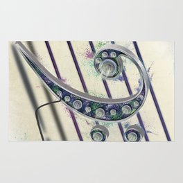 Colorful Music Bass Clef Rug