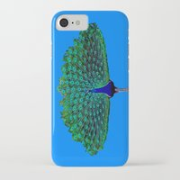 peacock iPhone & iPod Cases featuring Peacock by Crayle Vanest