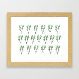 Blueberry Flowers Framed Art Print