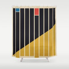 Abstract #83 Shower Curtain