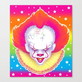1997 It's That New Scary Clown Canvas Print